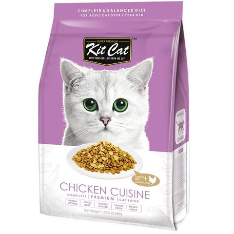Kit Cat Premium Cat Food - Chicken Cuisine 1.2kg