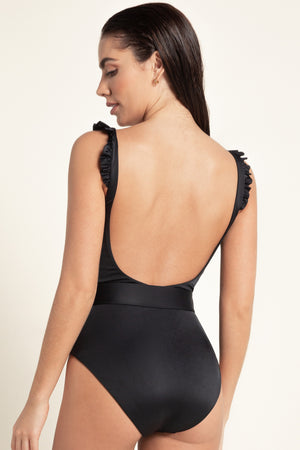 Agua Bendita Makera Nicolette One Piece in Negro 5557