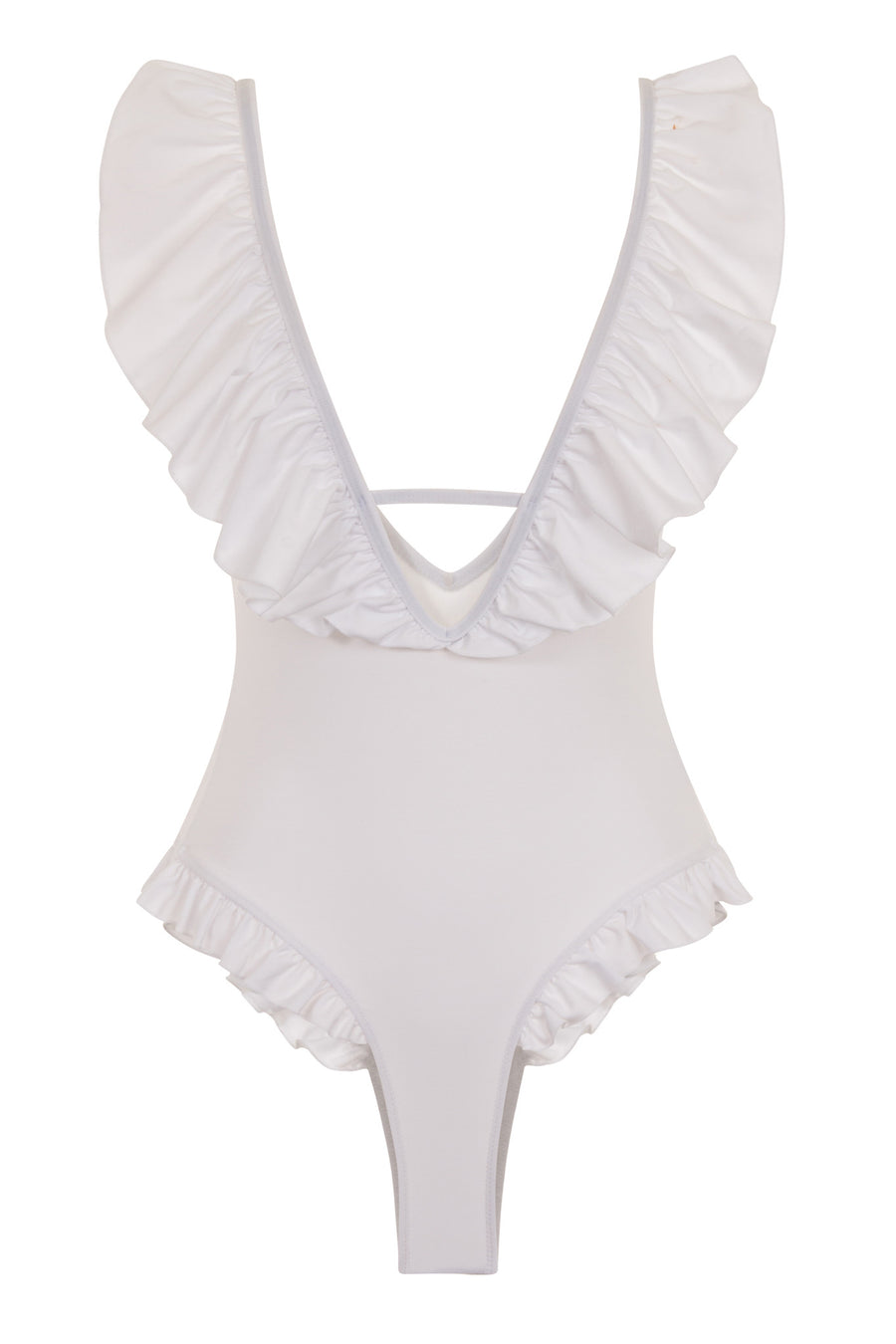 Afina London Tiffany Bridal Ruffled Swimsuit