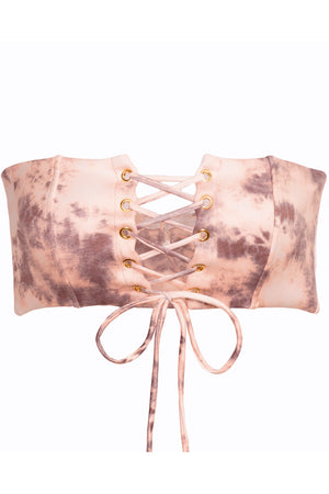 Shop Soah Alba Blush Tie Dye Bikini Top