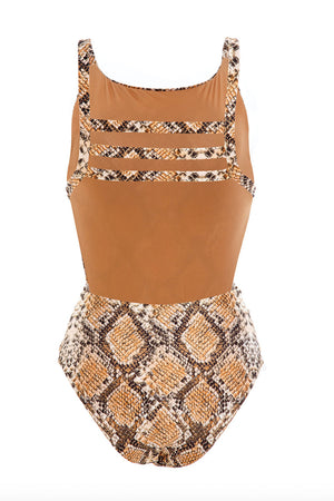 Agua Bendita Alluring Angela Bronzo One Piece