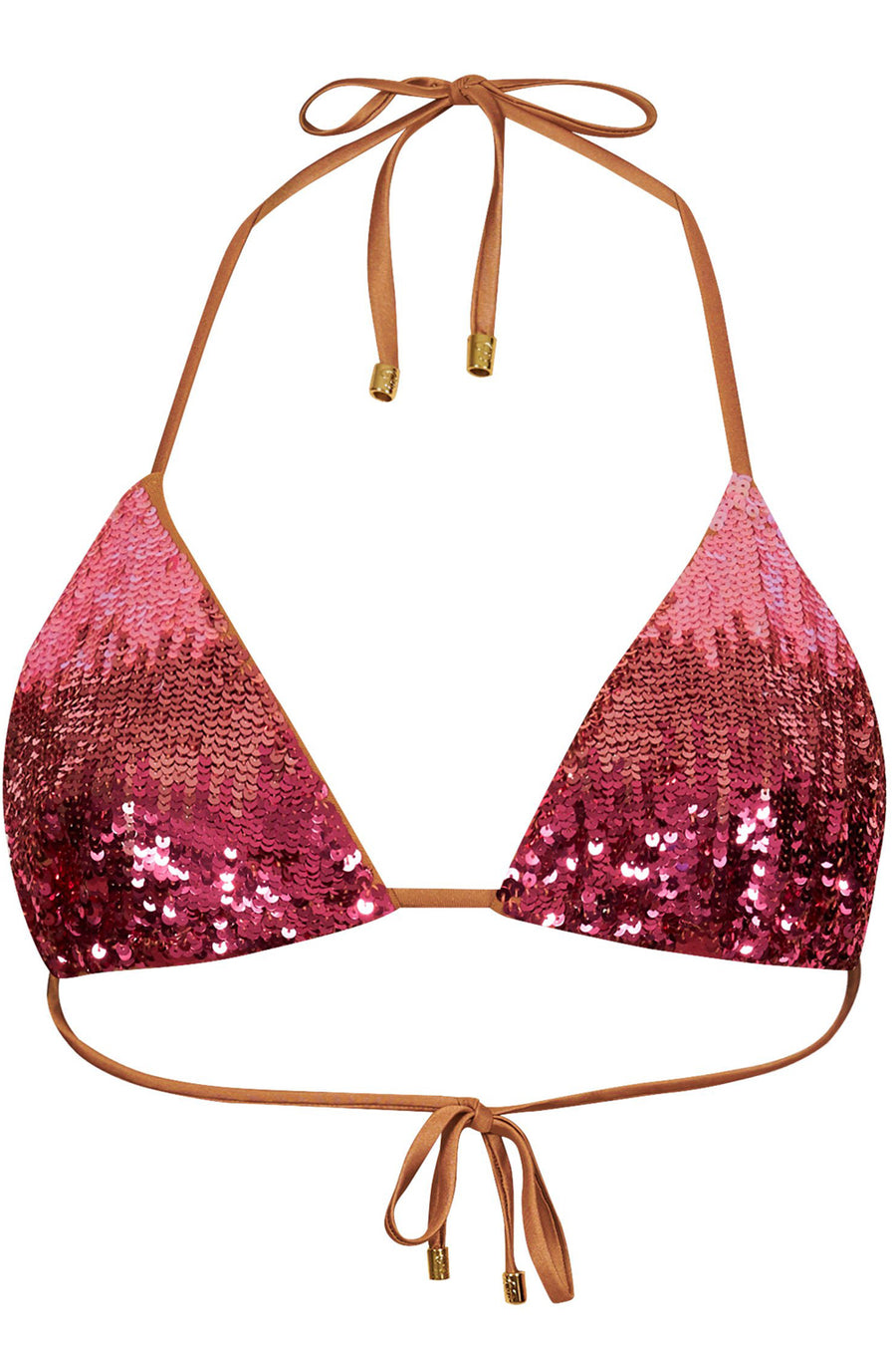 Beach Bunny Ariel Triangle Top Pink Ombre
