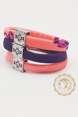 No-Break Bracelet Hair Ties (Caribbean Rose)