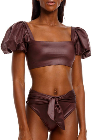 Agua Bendita, Bronzo, Calista, top, brown, swimwear, swimsuit, swim, sexy, bikini
