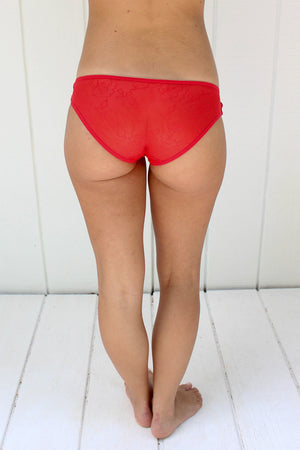 Criss Cross Panty in Rouge