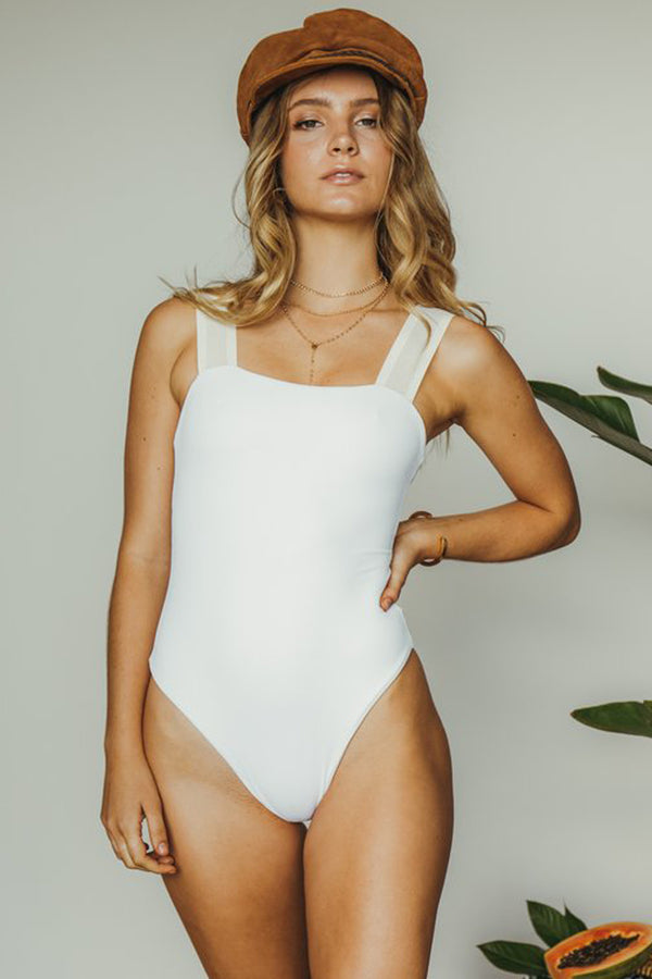 Dbrie Swimwear Alta One Piece in Blanc