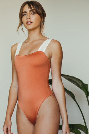 Dbrie Swimsuit Alta One Piece in Copper