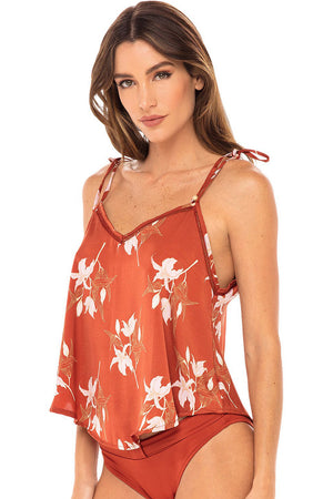 Revel Rey Ginger Cami Top Rust Lily