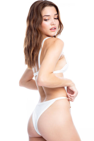 Lover Boy Bottom in White Rib