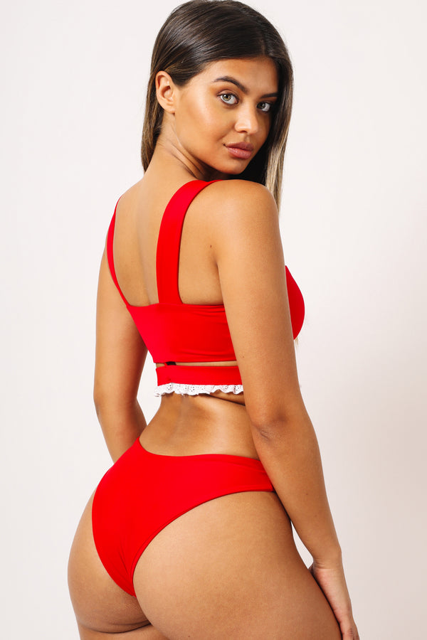 Kaohs Eve Bikini Bottom Red