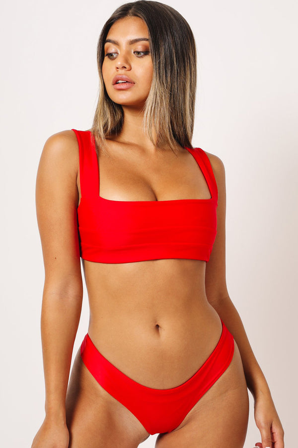 Kaohs Hampton Bikini Top Red