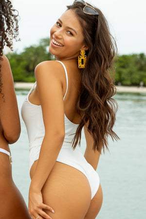 I Love Lolli Dream Boat One Piece Swimsuit in White