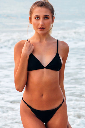 Lumahai Swimwear Basic Bikini Bottom in Black
