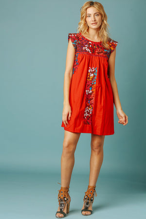 Margot Vista Hermosa Dress in Red