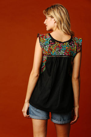 Margot Vista Hermosa Top in Black