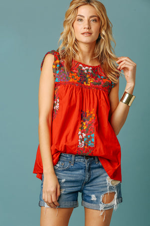 Margot Vista Hermosa Top in Red