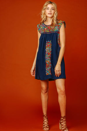 Margot Vista Hermosa Dress in Navy