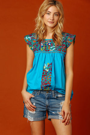 Margot Vista Hermosa Top in Teal