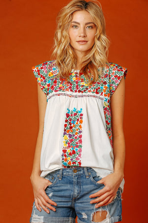Margot Vista Hermosa Top in White
