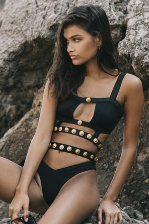 Monica Hansen Beachwear Rich and Fab Cutout Bottom