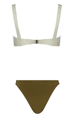 Monica Hansen Beachwear Rio TPU Bottom in Safari Green