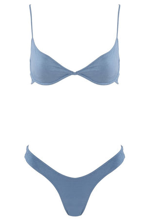 "Start Me Up Suede ""U"" Bottom Blue Front Inset"