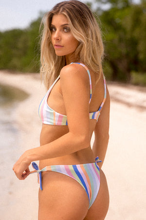 NirvanicSwim Sevilla Bikini Bottom in Summer Stripe