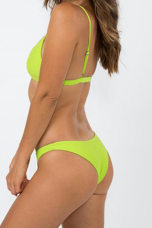 Nirvanic Swim Barcelona Bikini Bottom Citrus Green