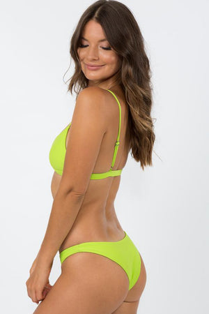 NirvanicSwim Rio Bikini Top Citrus Green