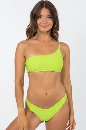 Nirvanic Swim Deia Top Citrus Green