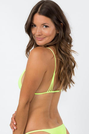 NirvanicSwim Helaku Top Citrus Green