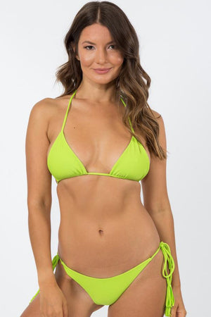 NirvanicSwim Kaia Tie Side Bottom Citrus Green