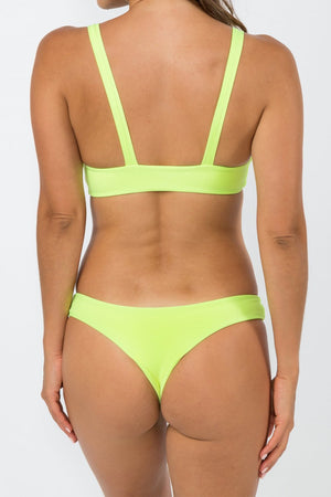 NirvanicSwim Paloma Bikini Bottom Citrus Green