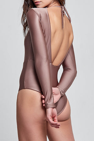Poliana Metallic Sand One Piece