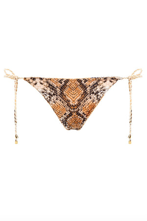 Agua Bendita Tempting Alegria Bronzo Reversible Bottom Braided Ties