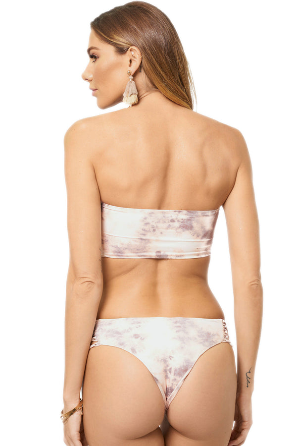 Shop Soah Alba Blush Tie Dye Bikini Bottom