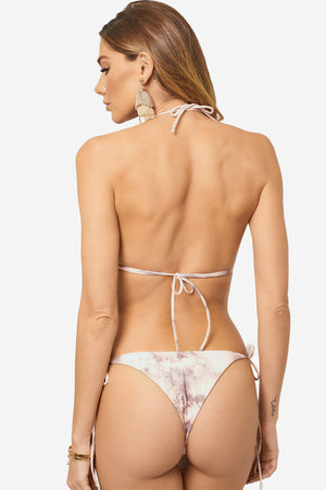 Shop Soah Isla Blush Tie Dye Bikini Bottom