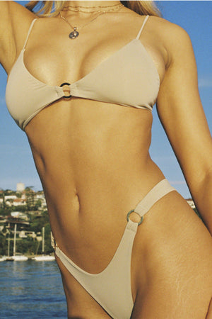 Siempre Golden Sexy Ego Bikini Bottom in Mocha