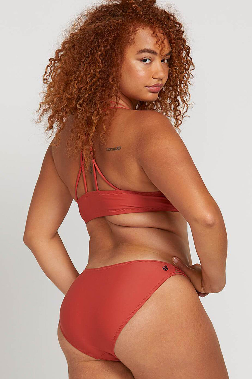 927fb5a6a0 Volcom Swimwear | Simply Solid Cheeky Bottom in Burnt Red | Cacique ...