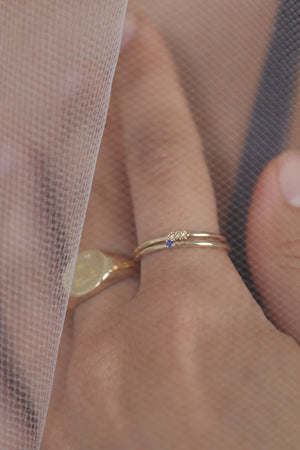 Washed Ashore Element Stone Ring Gold