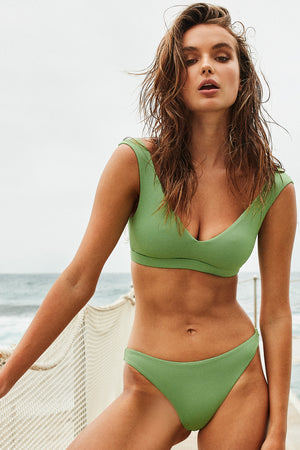 Wildaster Collection Chloe Bikini Top in Spearmint