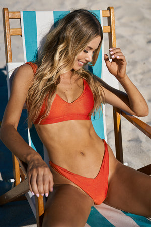 Wildaster Collection Chloe Bikini Top in Heatwave