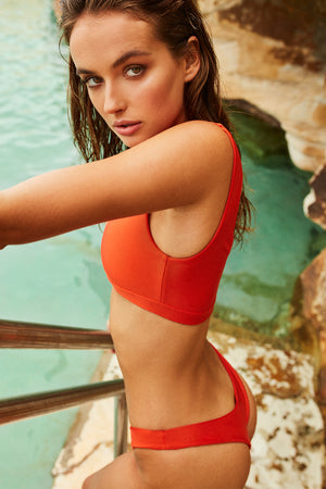 Wildaster Collection Stella Bikini Bottom in Heatwave