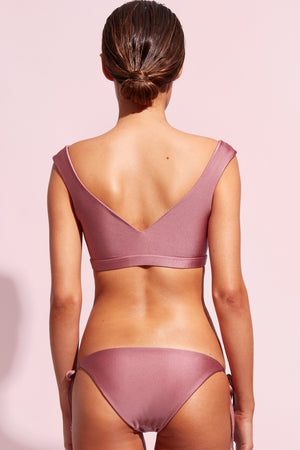 Wildaster Collection Chloe Bikini Top in Mauve