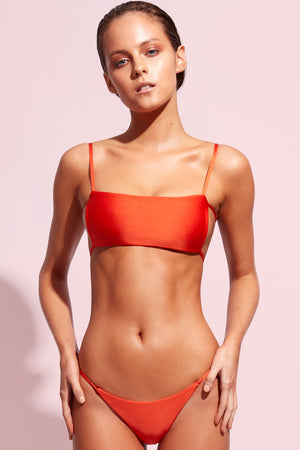 Wildaster Collection Jena Bikini Top in Heatwave