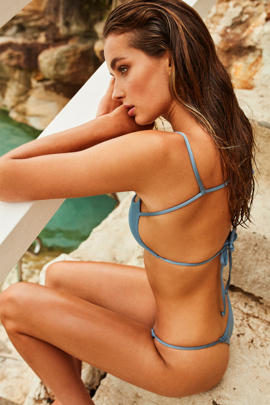 Wildaster Collection Maya Bikini Bottom in Iceberg