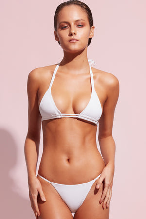Wildaster Collection Jena Bikini Top in Snow