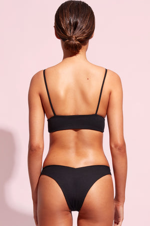 Wildaster Collection Stella Bikini Bottom in Jet