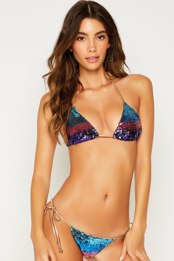 Beach Bunny Ariel Triangle Top Multi