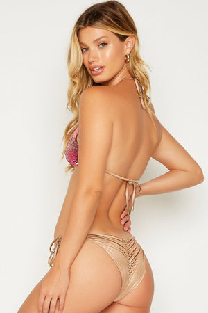 Beach Bunny Ariel Tie Side Bottom Pink Ombre